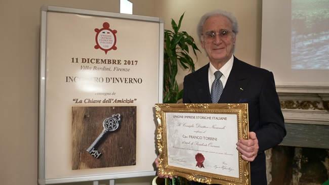 A Franco Torrini la presidenza onoraria dalla Unione