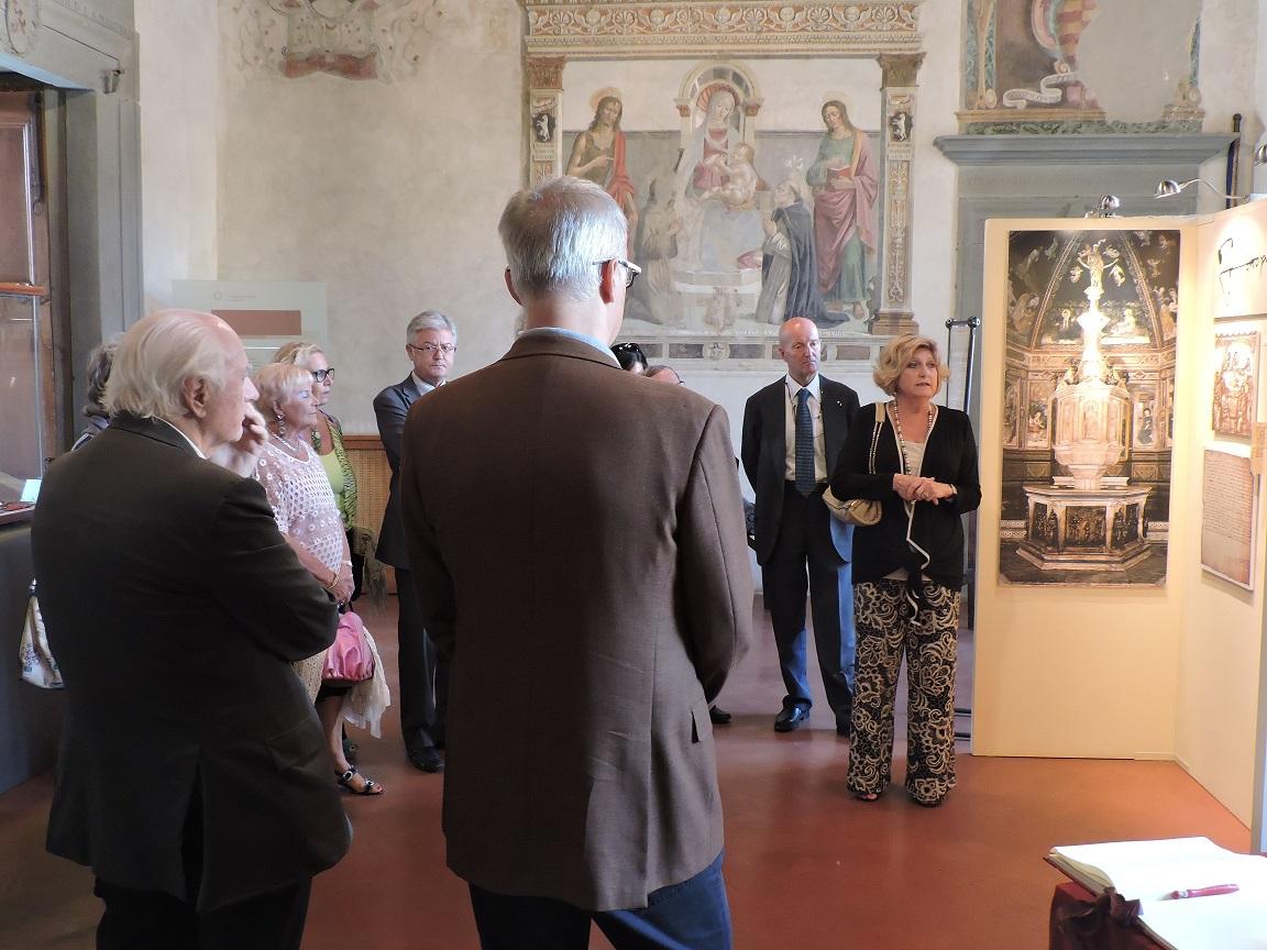 Atmosfere suggestive al Convivio d'Estate che si è tenuto venerdì 26 giugno a Scarperia