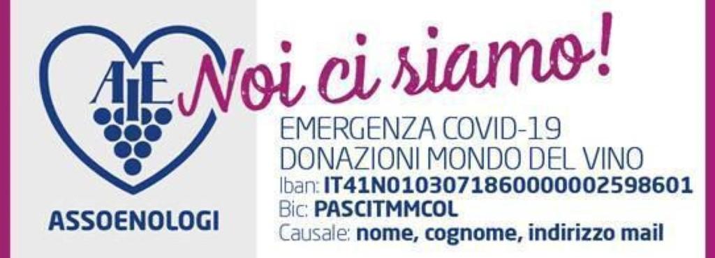 L'appello del mondo del vino a sostegno degli ospedali italiani