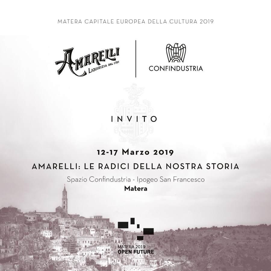 Per Matera 2019 una mostra di Amarelli