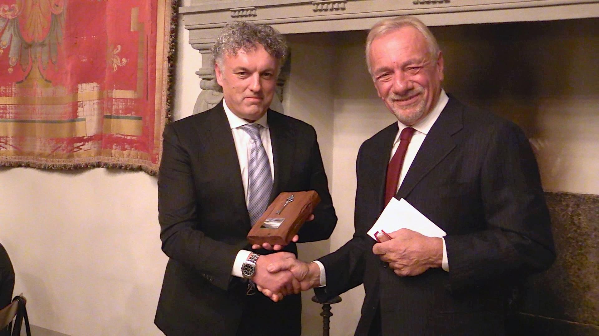Consegnata la Chiave dell'Amicizia all'imprenditore Marco Bartoletti