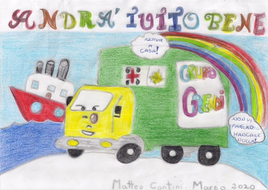 Covid, i disegni dei bambini del Gruppo Grendi
